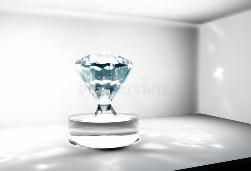 Duży diament w skrytkę ilustracja wektor