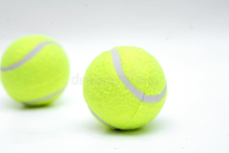 Zbliżenie dwa tenisowej piłki obraz stock