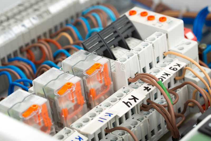 Elektryczne dostawy zdjęcie royalty free