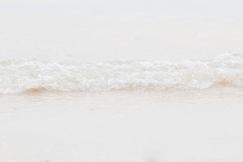 Zbliżenie fala na plaży obraz stock