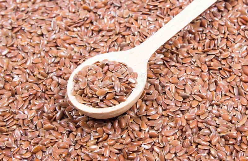 Zbliżenie flaxseed na bielu obraz royalty free