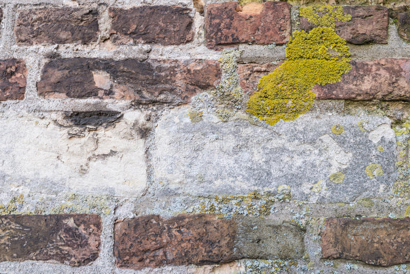 Zbliżenie historyczny ściana z cegieł obraz royalty free