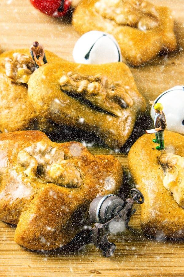 Zbliżenie imbirowy chleb zasycha zbliżenie obraz royalty free