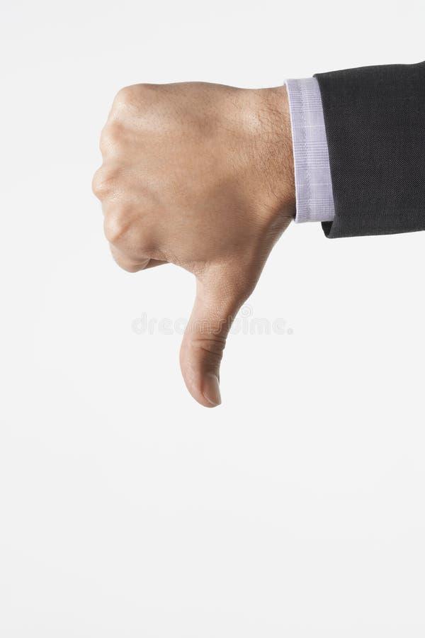 Zbliżenie kciuki Zestrzela znaka obrazy stock