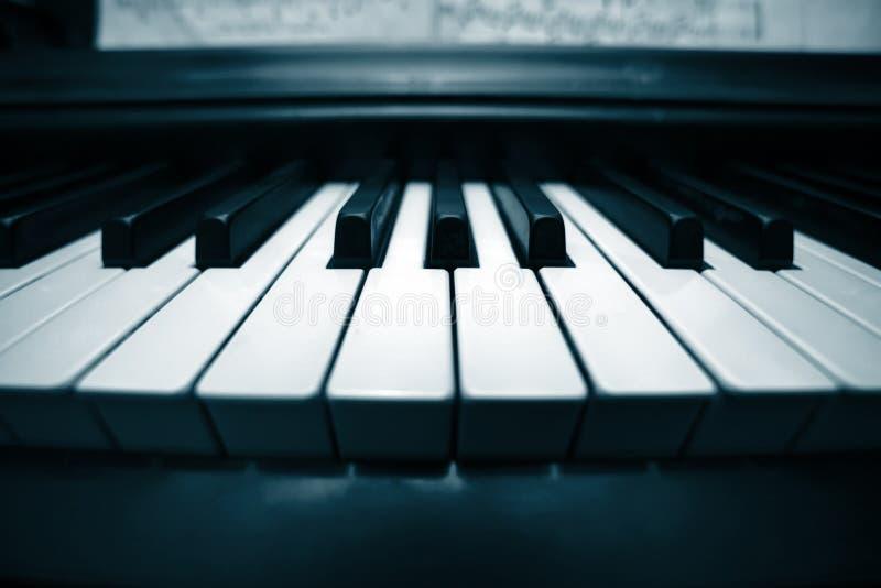 zbliżenie klawiatury pianino zdjęcie stock