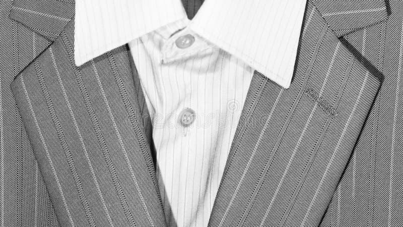 Zbliżenie kostiumu lapel dla odzieży i guziki biznesowej lub formalnej fotografia royalty free