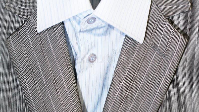 Zbliżenie kostiumu lapel dla odzieży i guziki biznesowej lub formalnej zdjęcie royalty free