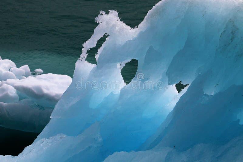 Zbliżenie lodowy floe w Alaska fotografia stock