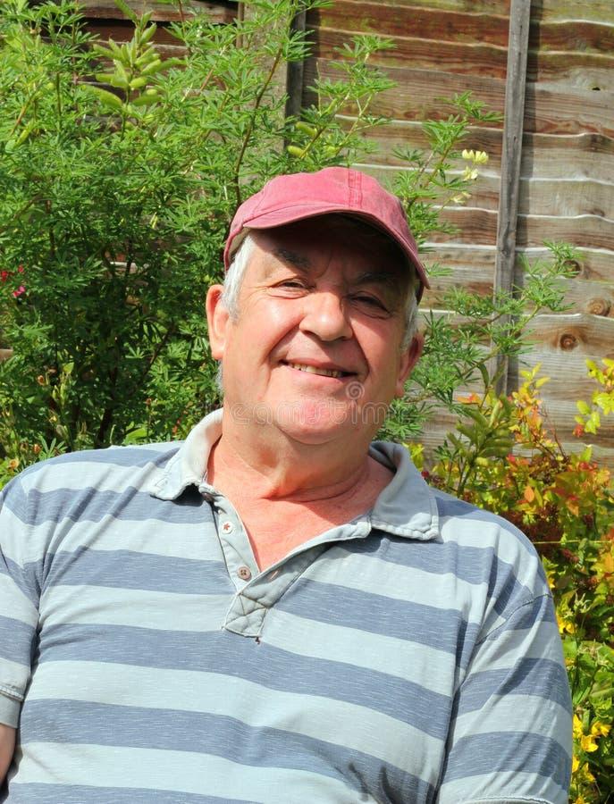 zbliżenie mężczyzna starszy szczęśliwy zdjęcie royalty free
