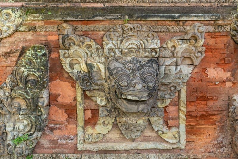 Zbliżenie maskowy malowidło ścienne przy Royal Palace, Klungkung Bali Indonezja zdjęcia stock