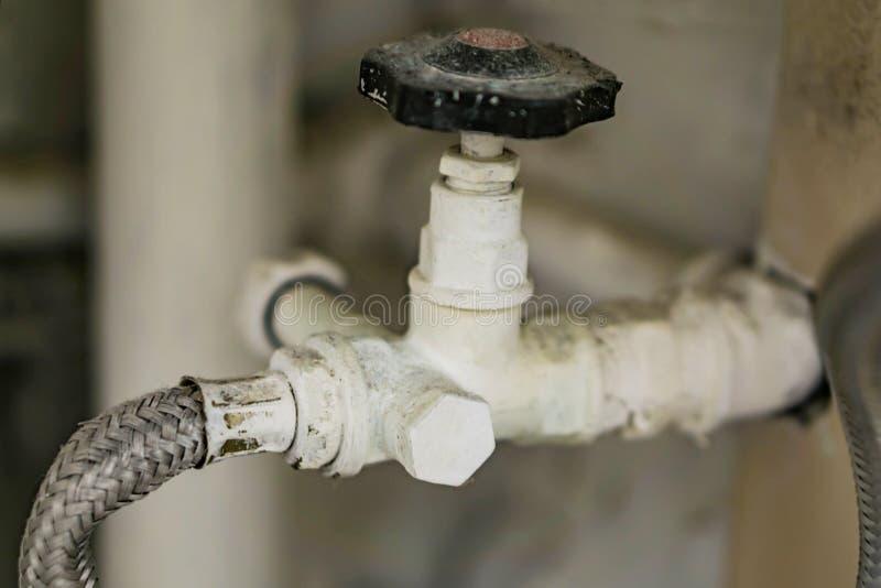 Zbliżenie, miękki związek z zamykającą klapą dla wody Domowy P fotografia royalty free