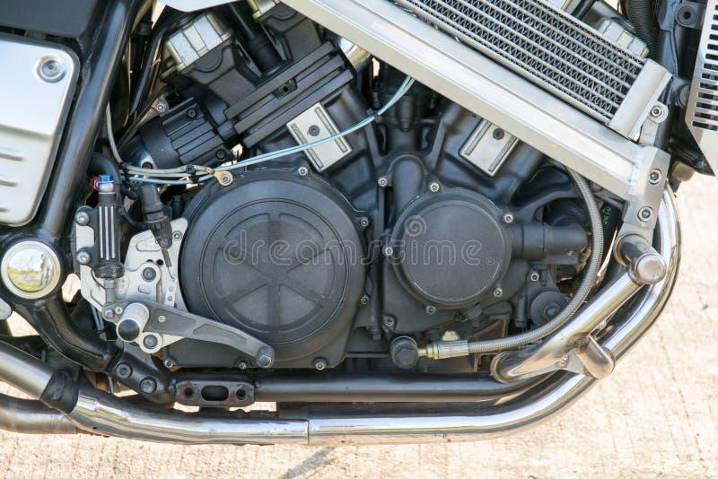Zbliżenie motocyklu silnik zdjęcia stock