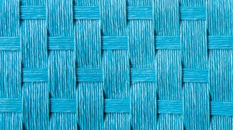 Błękitna słomiana sukienna tekstura obraz royalty free