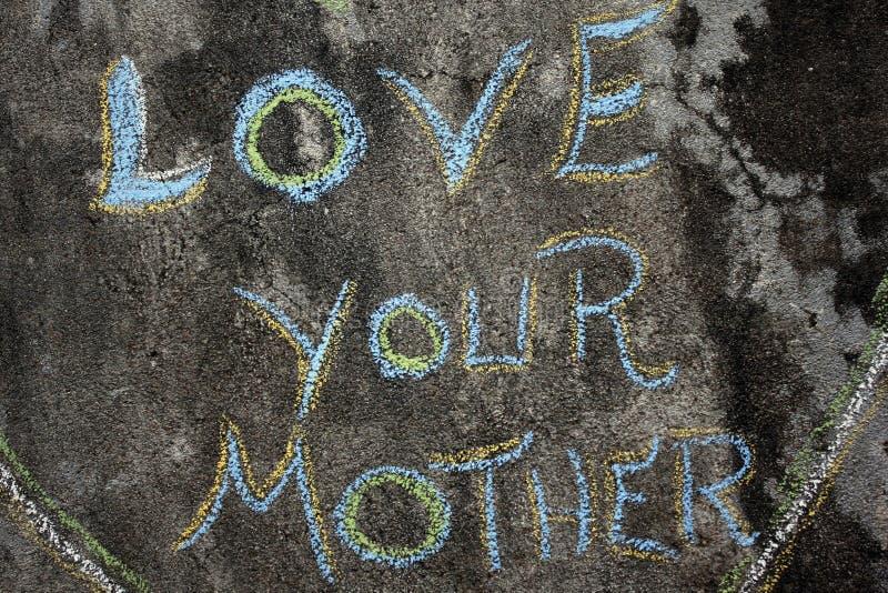 Zbliżenie na zwrot miłości twój matka obraz royalty free