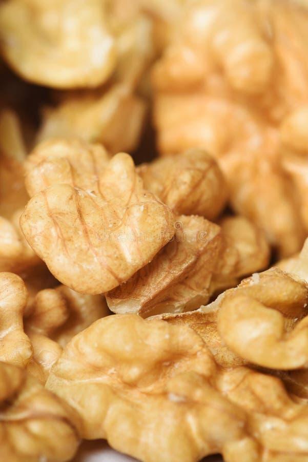 Zbliżenie Nutmeats zdjęcie stock