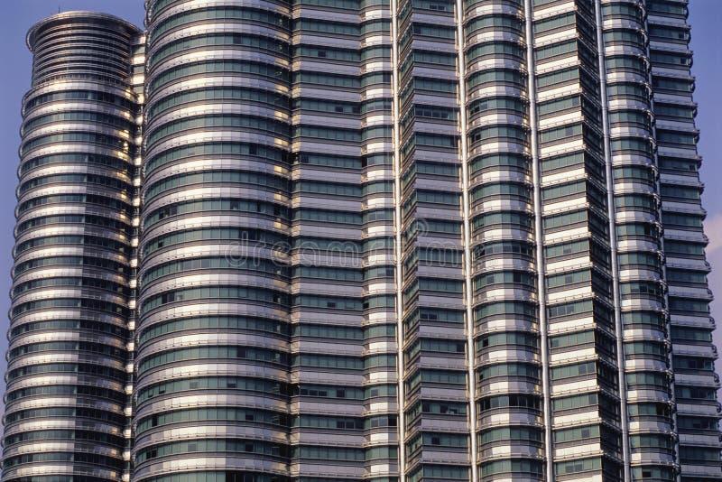 Zbliżenie Petronas bliźniacze wieże obraz royalty free