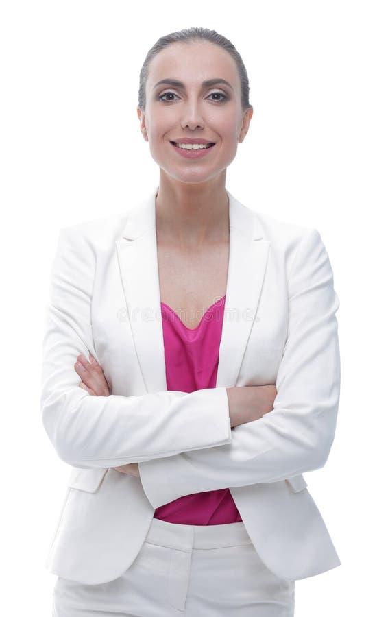 zbliżenie pomyślna biznesowa kobieta w eleganckim kostiumu zdjęcie royalty free