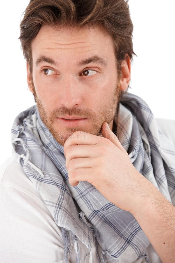 Zbliżenie portret młody człowiek zdjęcie stock