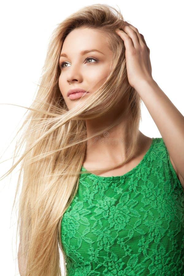 Portret piękna blondynki kobieta obrazy royalty free