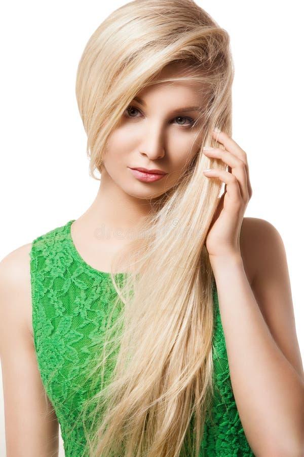 Portret piękna blondynki kobieta fotografia royalty free