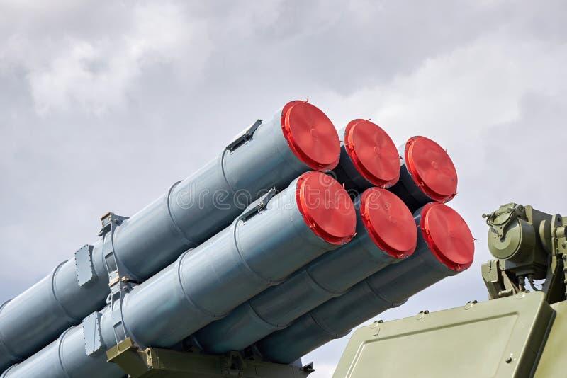 Zbliżenie Rosyjski samojezdny rakietowy kompleks zdjęcia royalty free
