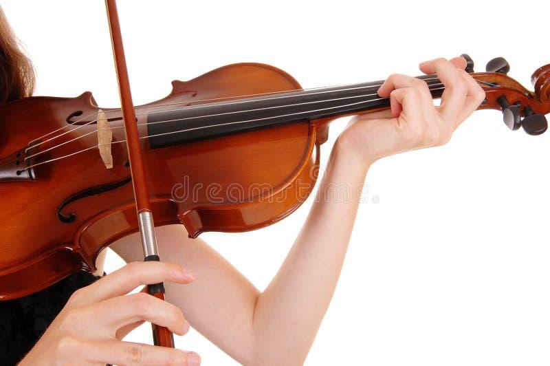 Zbliżenie skrzypcowy bawić się fotografia stock