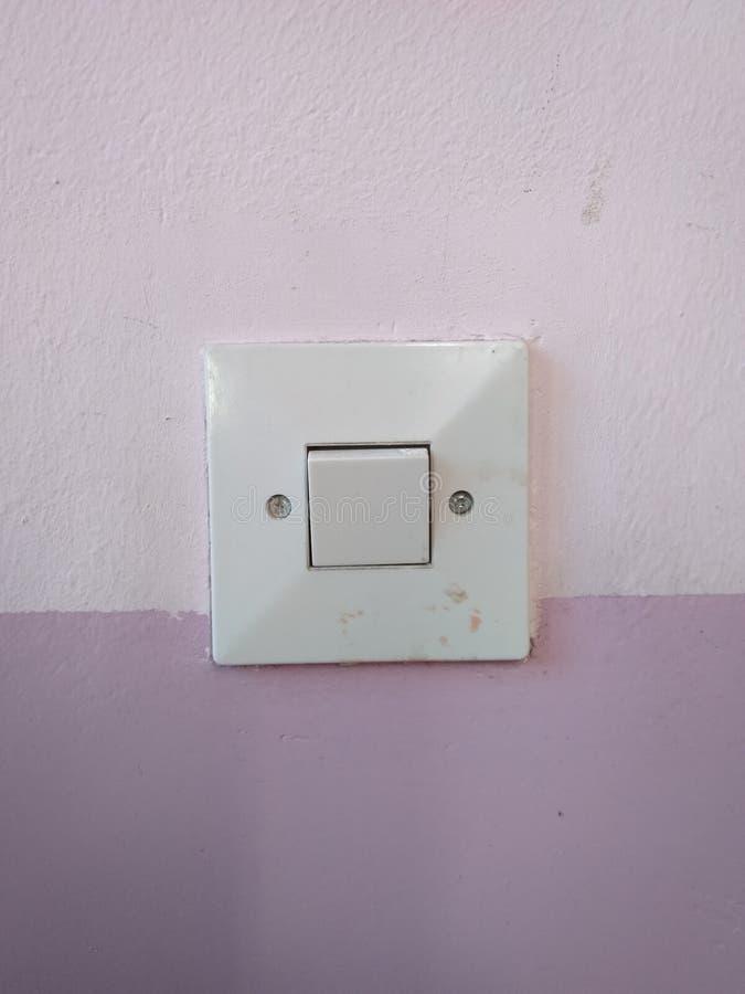 Zbliżenie stary światła białego switcher obraz royalty free