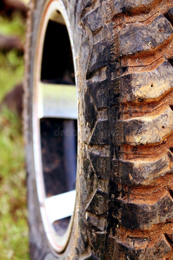 Zbliżenie SUV opona obraz stock