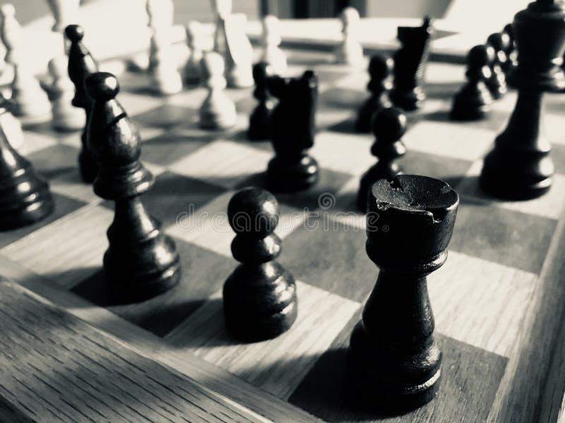 Zbliżenie szachowa gra zdjęcia royalty free
