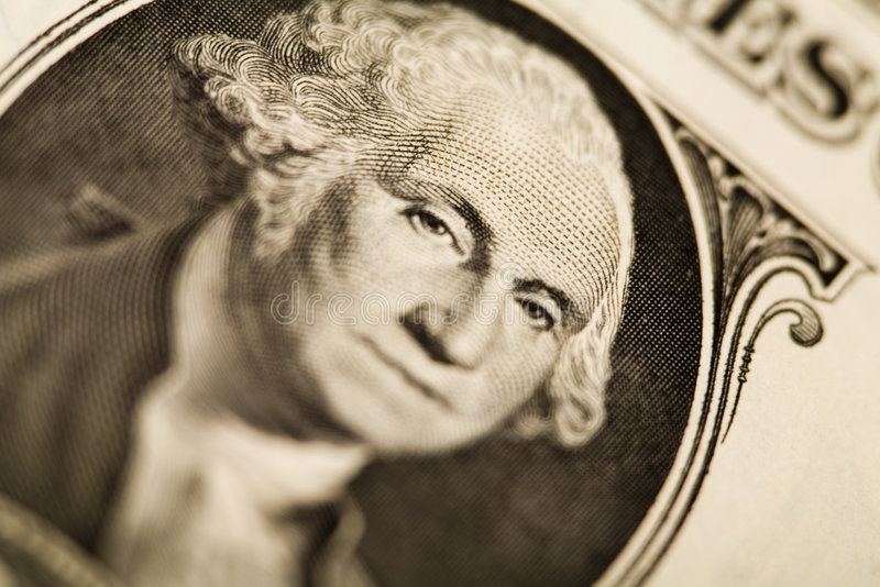 zbliżenie szczegółów dolara zdjęcie stock
