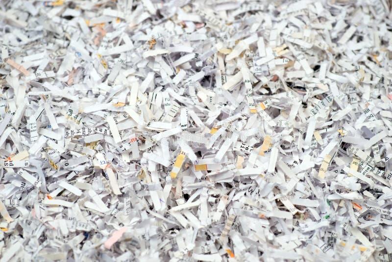 Zbliżenie tarci papierowi dokumenty fotografia stock