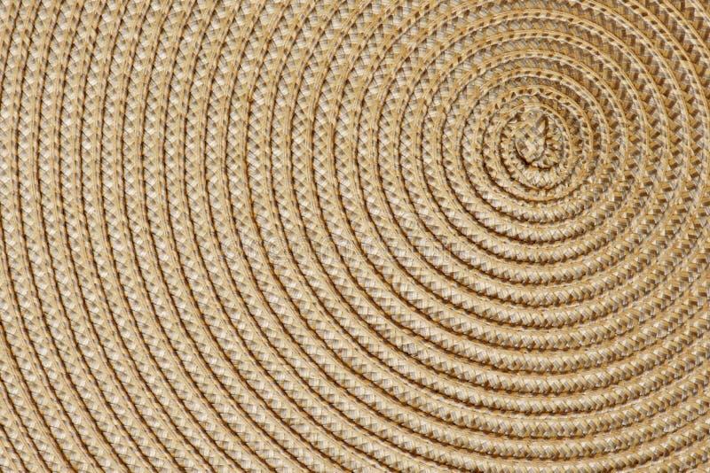 Zbliżenie tkany słomiany tło zdjęcie stock