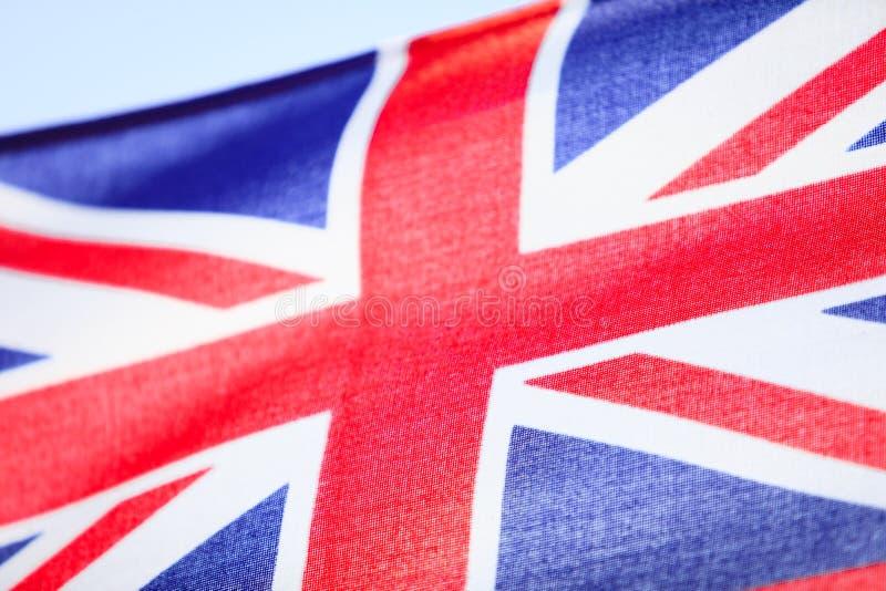 Zbliżenie UK chorążego brytyjska flaga. Symbol kraj europejski. fotografia stock
