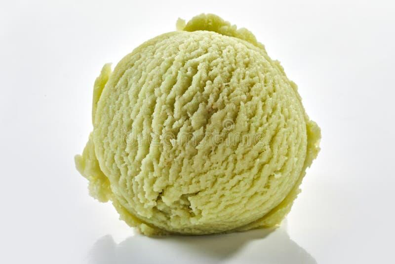 Zbliżenie w sprawie łyżki lodów ziołowych obraz stock