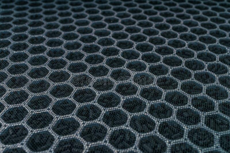 Zbliżenie widok na węgla lotniczym filtrze dla HVAC technologii fotografia stock