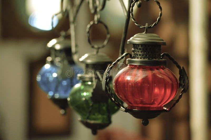 Zbliżenie wiszący lampowy salowy fotografia stock