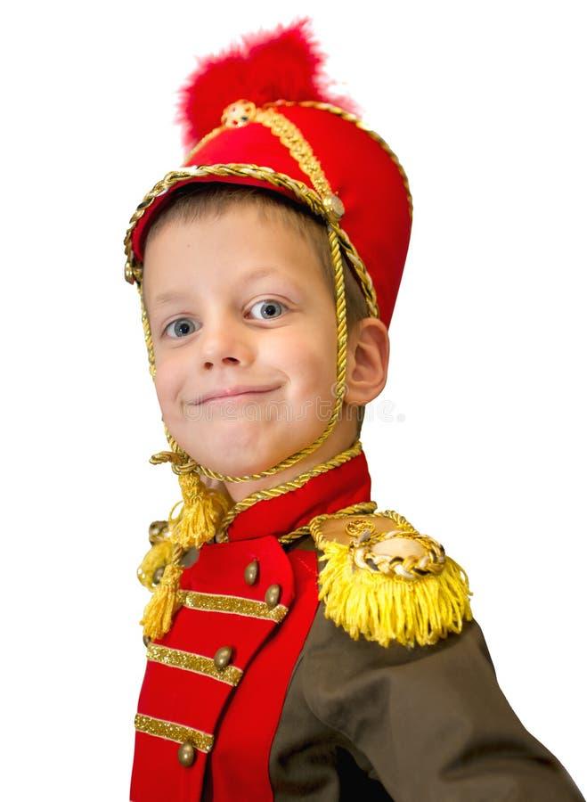 Zbliżenie wizerunek śliczny mały hussar zdjęcie royalty free