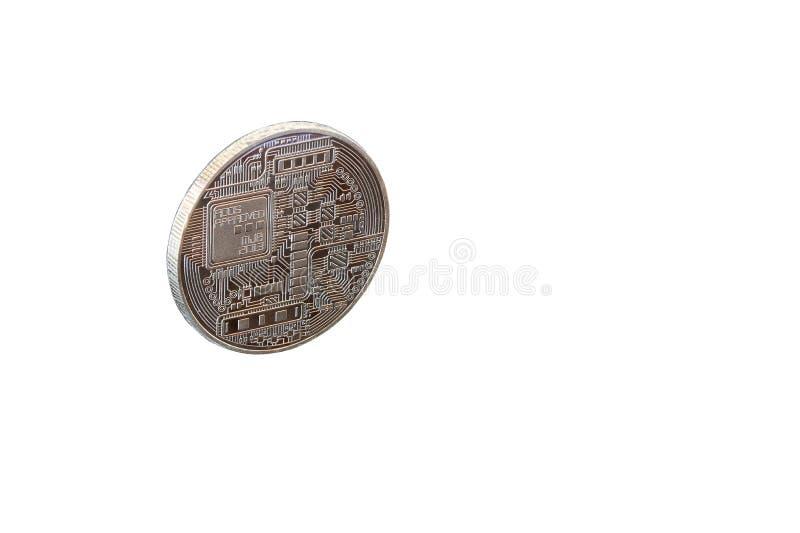 Zbliżenie Złoty Bitcoin zdjęcia royalty free