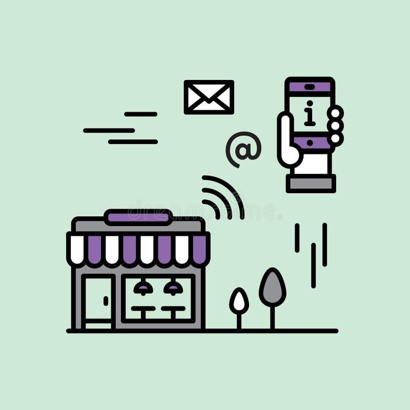 Zbliżeniowy marketing ilustracja wektor