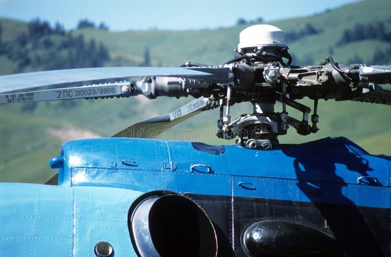 Zbliżenie Helikopter Fotografia Royalty Free