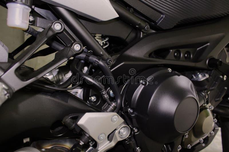 Zbli?enie silnik motocykl fotografia royalty free