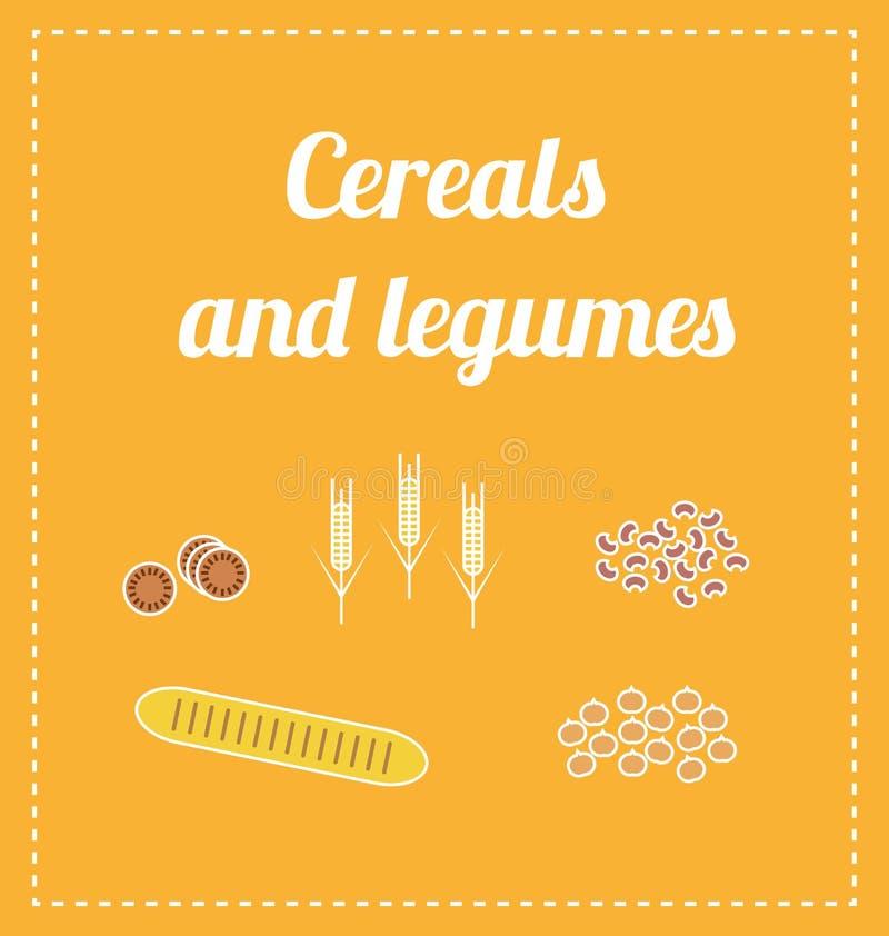 Zboża i legumes royalty ilustracja