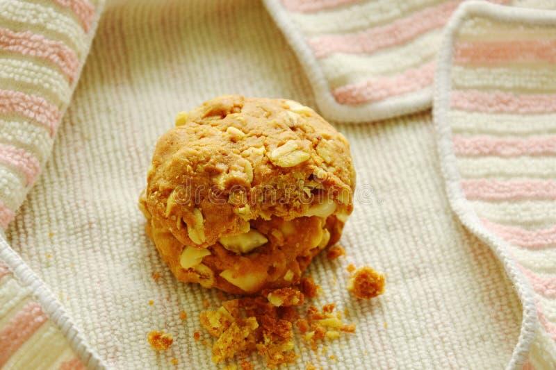 Zboża masła ciastka kąsek na płótnie zdjęcia royalty free