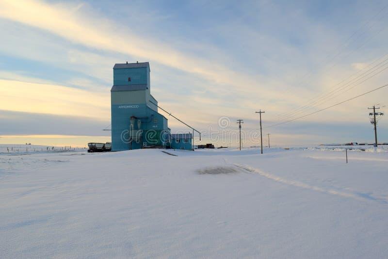 Zbożowa winda zdjęcie royalty free