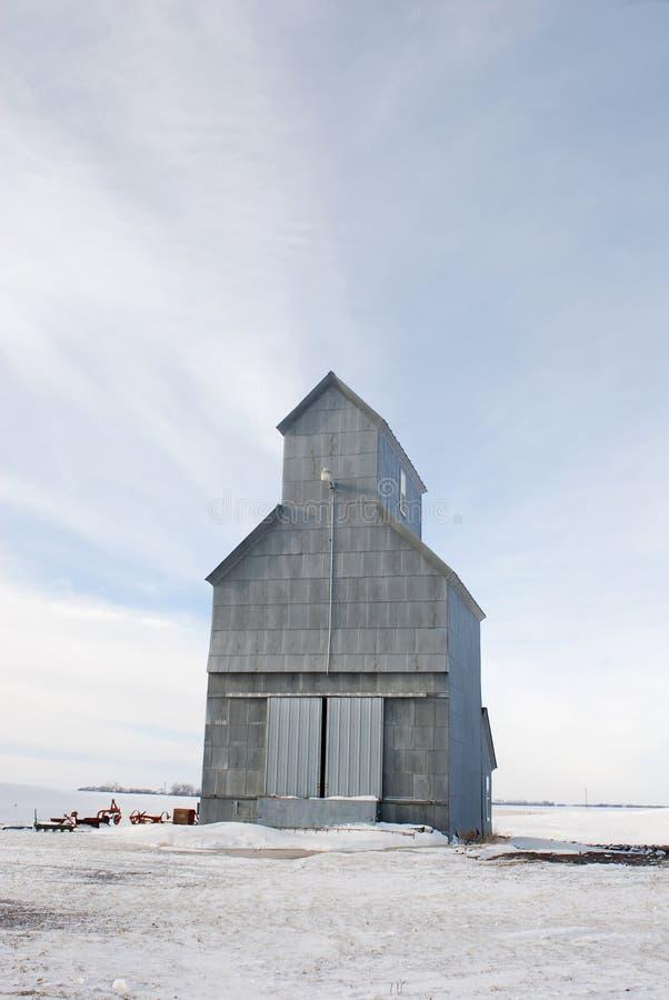 zbożowa windy zima zdjęcie stock