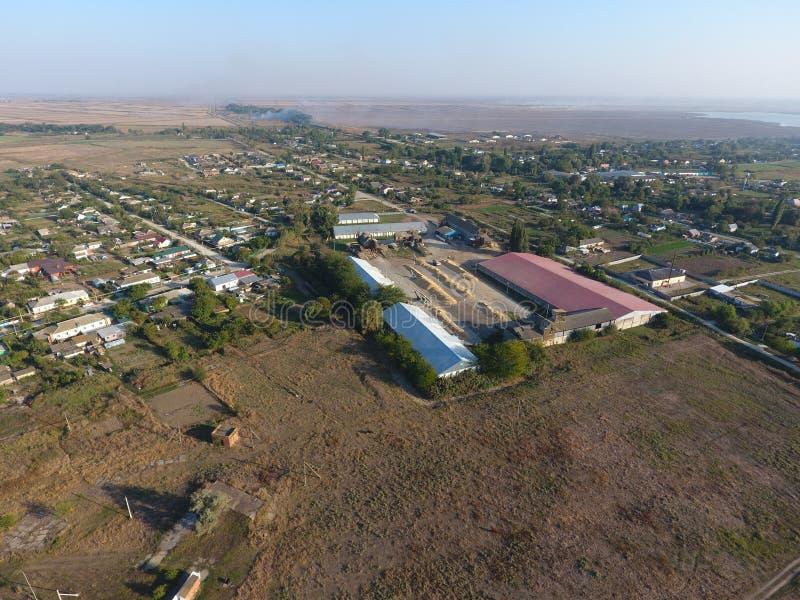Zbożowy składowy hangar zdjęcie stock