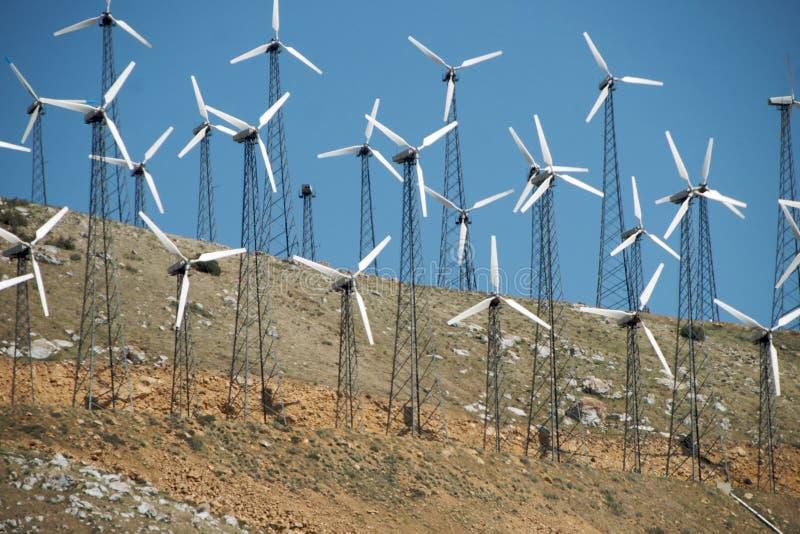 zbocza mały turbina wiatr obrazy royalty free
