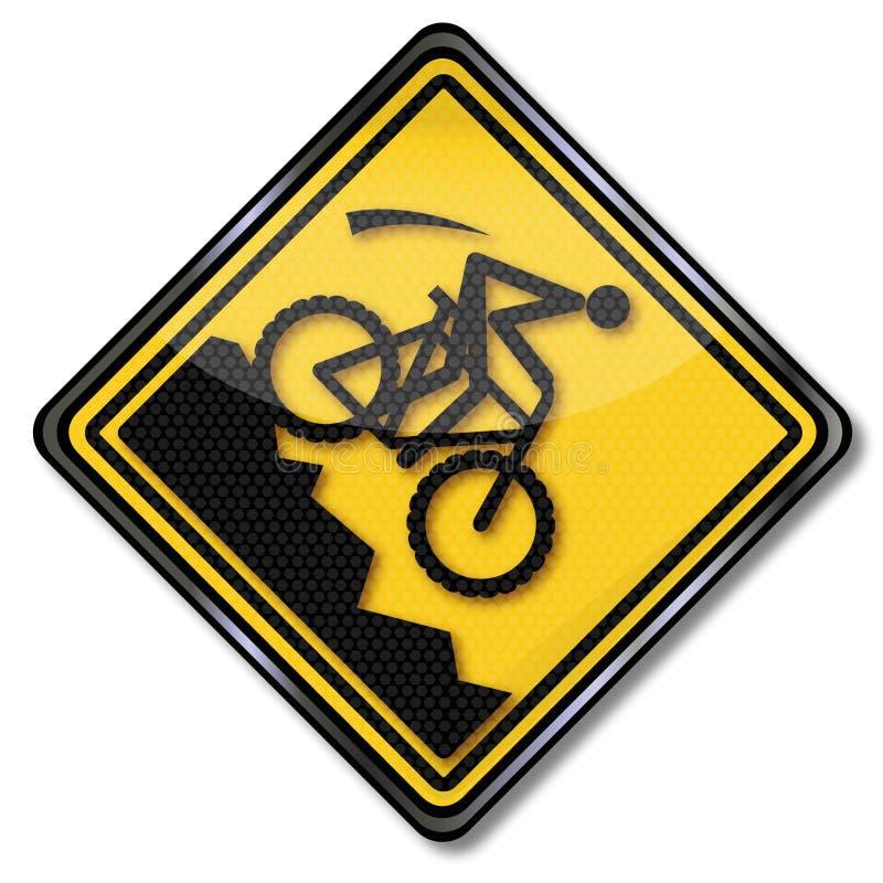 Zbocze i halny jechać na rowerze ilustracji