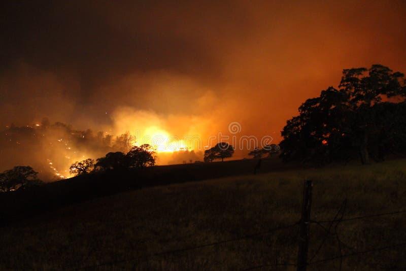 Zbocze pożar zdjęcia stock