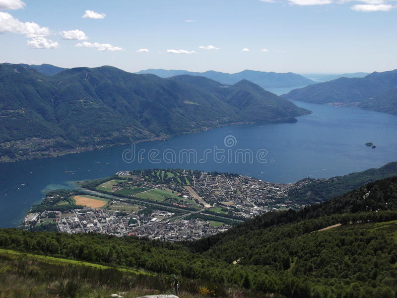 Zbocze widok Locarno, Ticino, Szwajcaria fotografia royalty free